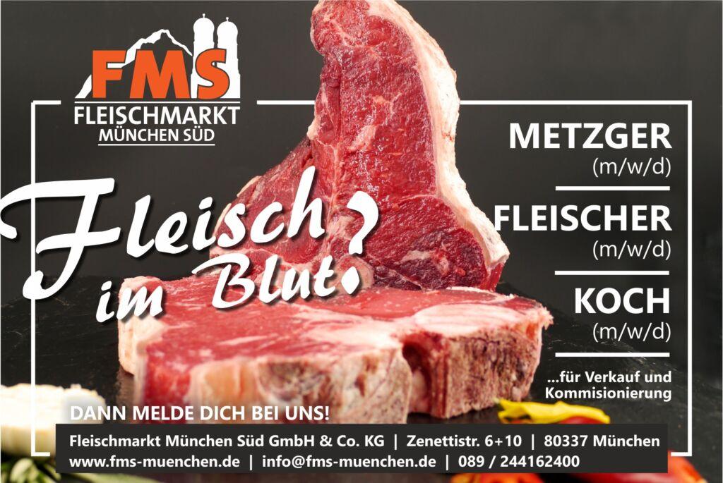 Job als Metzger oder Fleischer im Fleischmarkt München